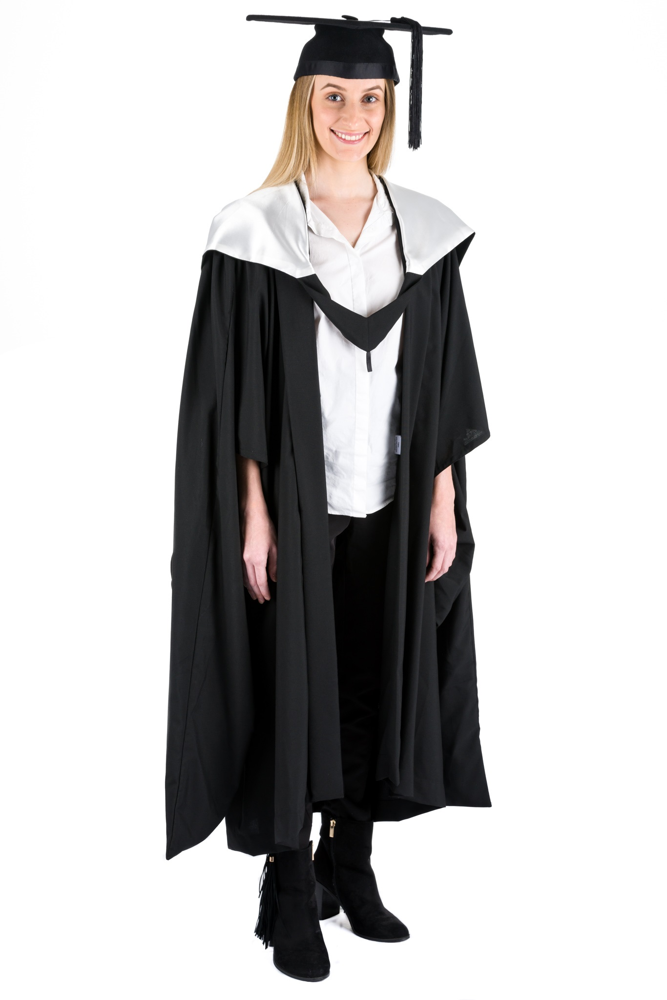 Masters Graduation Hood Fully Lined Pearl White Academic Dress – The ...