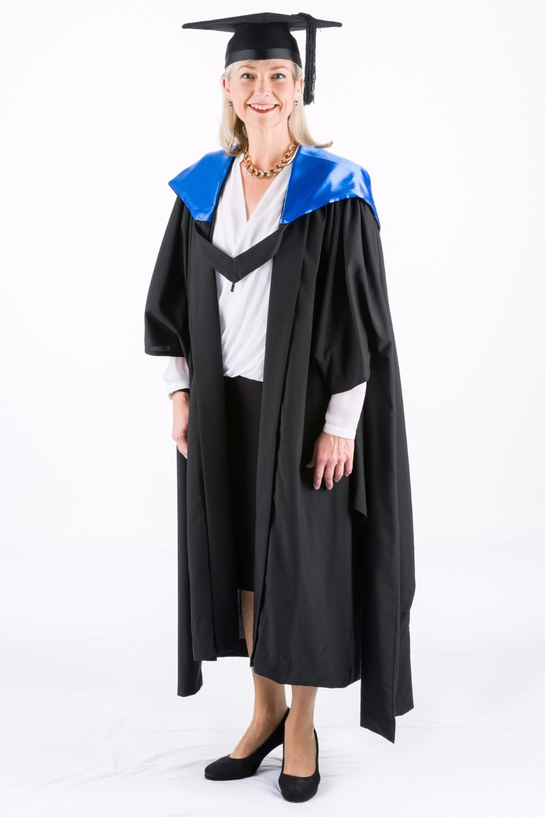QUT Master of Business Graduation Hood Blue – The Gown Chick