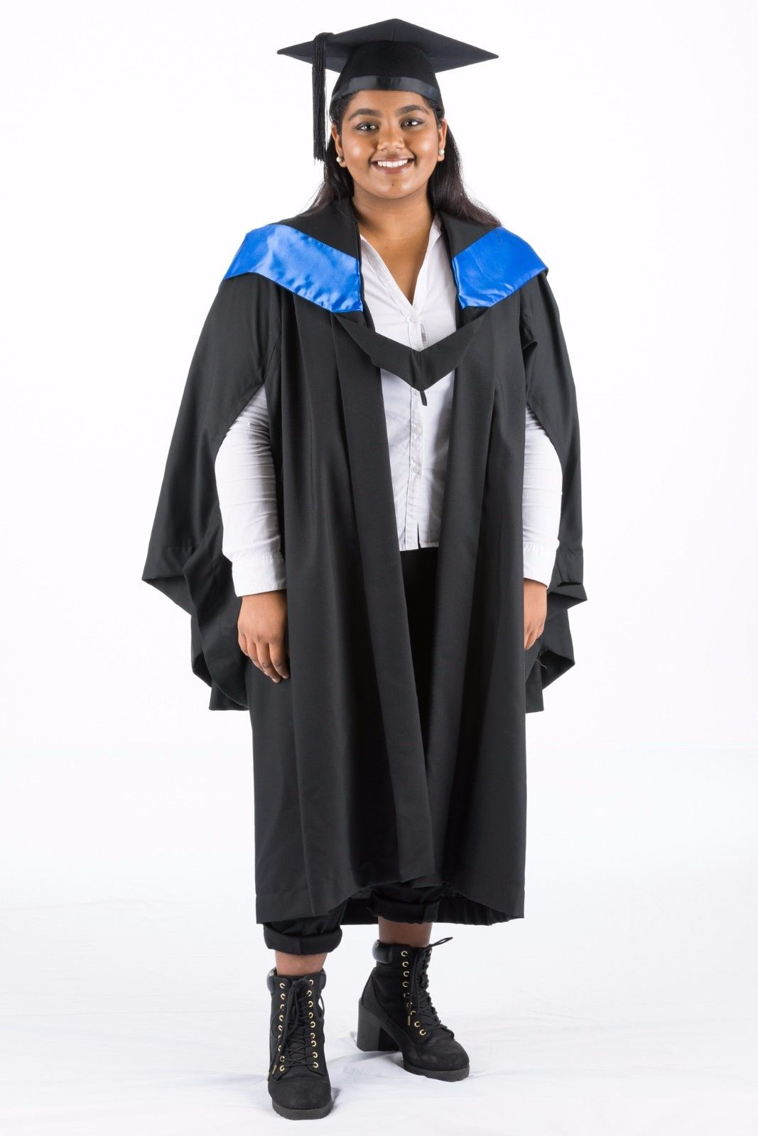 QUT Bachelor of Business Graduation Hood Blue Academic Dress – The ...