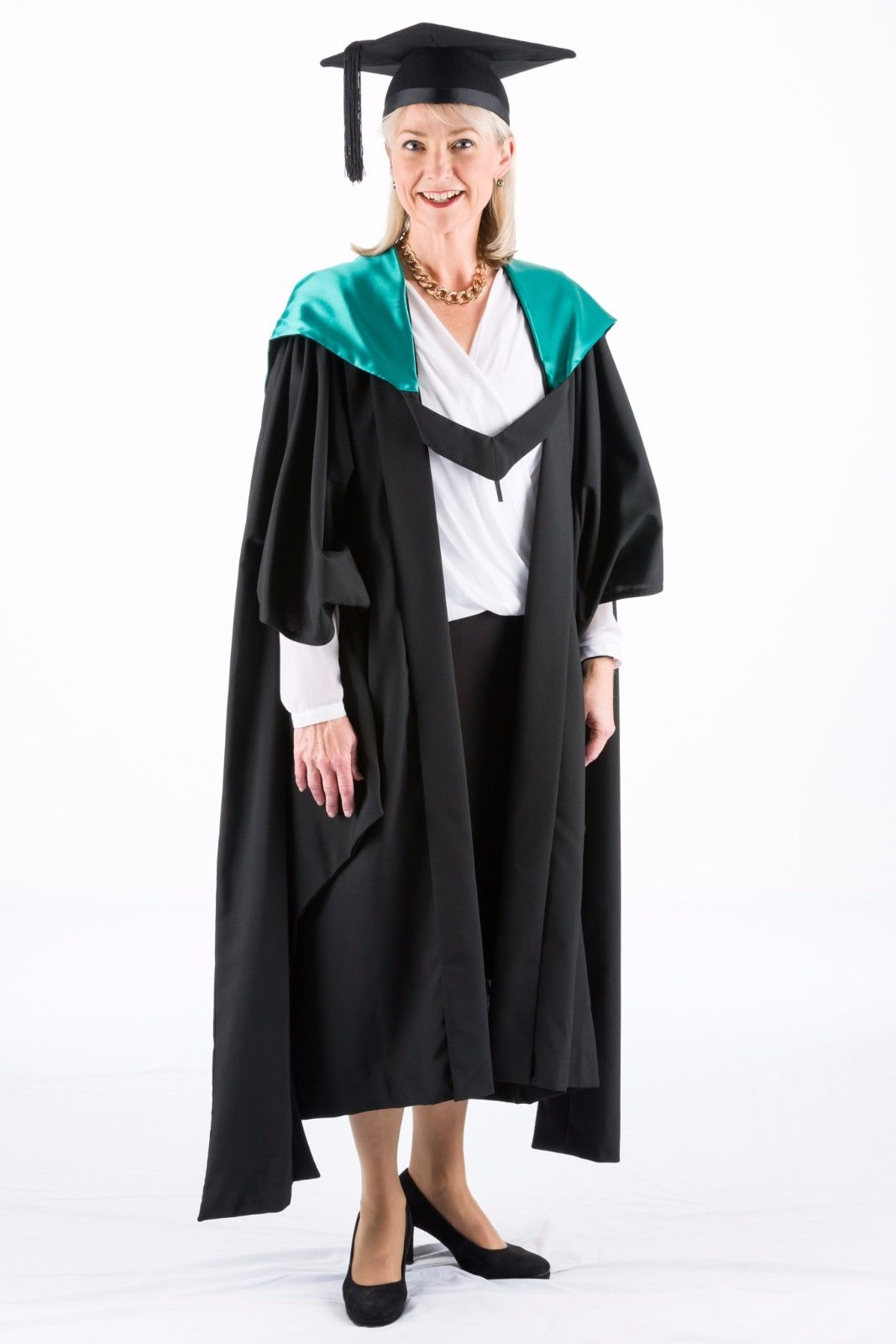 University-Academic-Hood-Graduation-Masters-Fully-Lined-with-Malacite-Green-382202353628